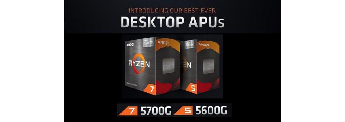 Ανακοινώθηκαν οι καινούργοι AMD APU Ryzen 7 5700G και Ryzen 5 5600G