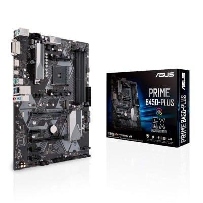 ASUS PRIME B450-PLUS μητρική κάρτα Υποδοχή AM4 ATX AMD B450