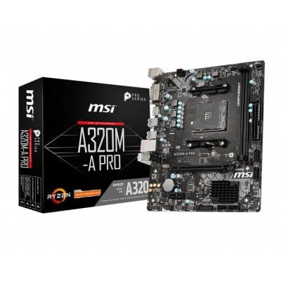 MSI A320M-A PRO μητρική κάρτα Υποδοχή AM4 Micro ATX AMD A320