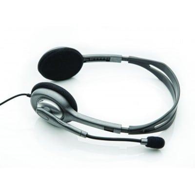 Logitech H110 ακουστικά κινητού Δίωτος (δύο ακουστικών εξόδων) Μαύρο, Ασημί