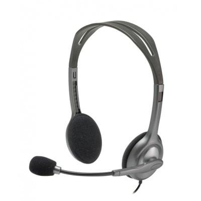 Logitech H111 ακουστικό Head-band Δίωτος (δύο ακουστικών εξόδων) Γκρι