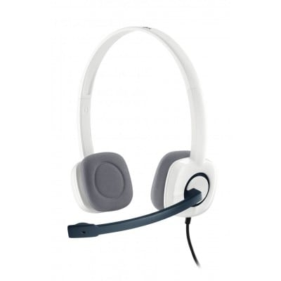 Logitech H150 ακουστικό Head-band Δίωτος (δύο ακουστικών εξόδων) Λευκό (Άσπρο)