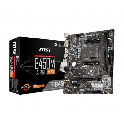 MSI B450M-A PRO MAX μητρική κάρτα Υποδοχή AM4 Micro ATX AMD B450