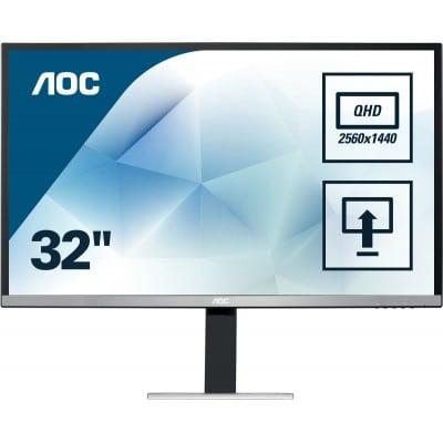 AOC Pro-line Q3277PQU επίπεδη οθόνη 81,3 cm (32'') 2560 x 1440 pixels Quad HD LED Μαύρο