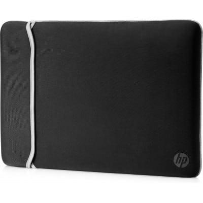 HP 15.6'' Neoprene Reversible Sleeve τσάντα φορητού υπολογιστή 39,6 cm (15.6'') Θήκη Sleeve Μαύρο, Ασημί