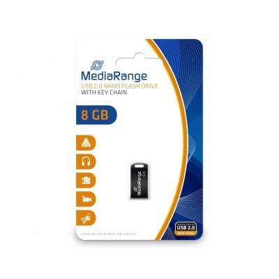 MediaRange MR920 USB flash drive 8 GB USB Type-A 2.0 Black