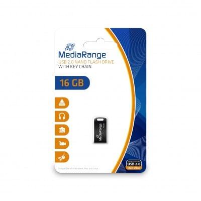 MediaRange MR921 USB flash drive 16 GB USB Type-A 2.0 Black