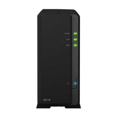 Synology DiskStation DS118 NAS/storage server RTD1296 Ethernet LAN Compact Black