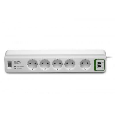APC PM5T-GR προστατευτικό μεταβολής τάσης Λευκό (Άσπρο) 5 Έξοδος (οι) εναλλασσόμενου ρεύματος 230 V 1,83 m
