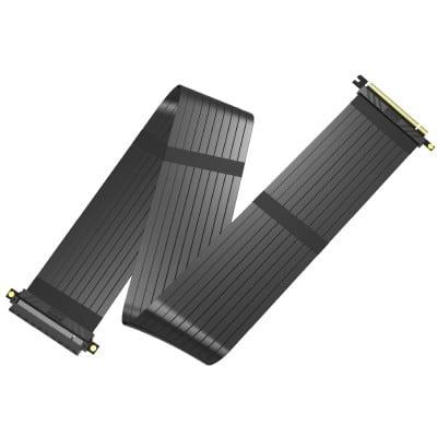 Akasa RISER BLACK XL, Premium PCIe 3.0 x 16 Riser cable,100CM 180° PCIe 3.0 x16 Female 180° PCIe 3.0 x16 Male