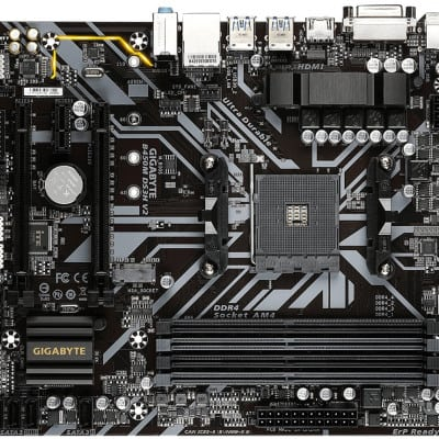 Gigabyte GA-B450M-DS3H V2 (AM4) (D) AMD B450 Υποδοχή AM4 micro ATX