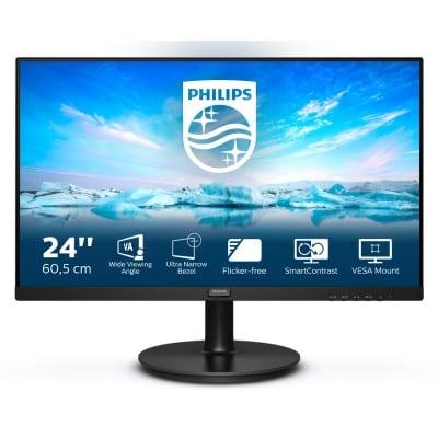 Philips V Line 241V8LA/00 LED display 60,5 cm (23.8'') 1920 x 1080 pixels Full HD Μαύρο