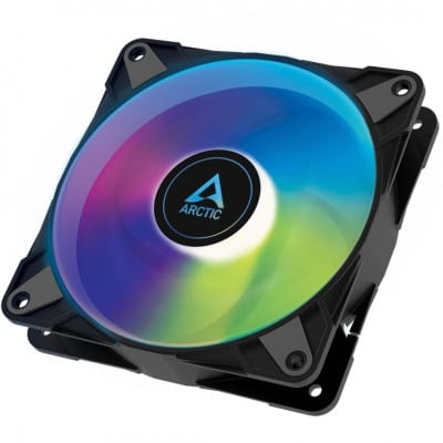 Arctic P12 PWM PST A-RGB 0dB – 120mm Pressure optimized case fan | PWM controlled speed with PST | A
