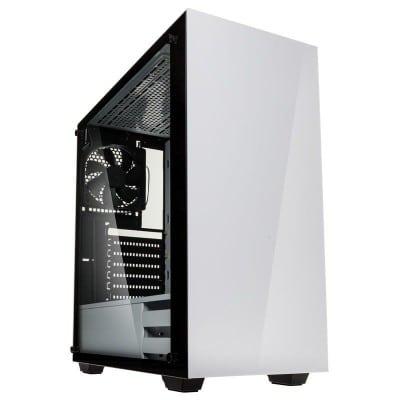Kolink Stronghold Midi-Tower, Tempered Glass PC Case - white