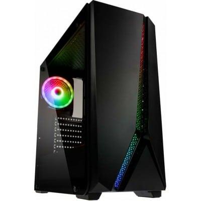 Kolink Quantum RGB Midi Tower Tempered Glass PC Case (E-ATX, 340mm GPU, panel)