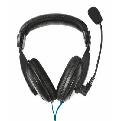 Trust 21661 ακουστικό κεφαλής & ακουστικό κεφαλής με μικρόφωνο Ακουστικά Head-band Βύσμα 3.5mm Μαύρο