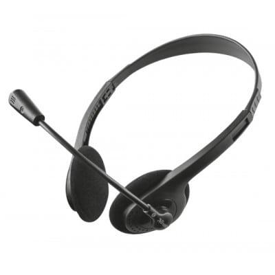 Trust ZIVA CHAT HEADSET Ακουστικά Head-band Μαύρο
