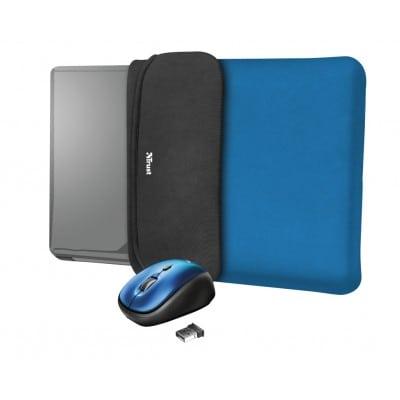 Trust 23452 τσάντα φορητού υπολογιστή 39,6 cm (15.6'') Θήκη Sleeve Μαύρο, Μπλε