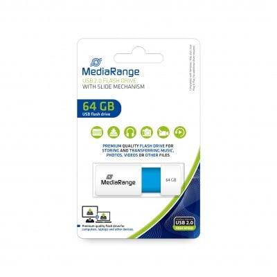 MediaRange USB Stick 64GB MR974 USB flash drive USB Type-A 2.0 Blue, White